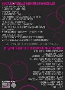 Flyer Rückseite ZusammenKunst 2015 ZUFF Rheinberg KeinVerlag